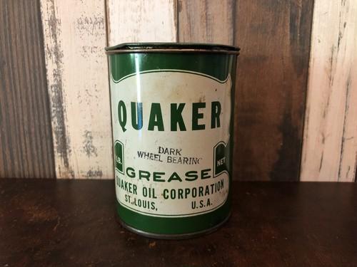 オイル缶 「QUAKER」