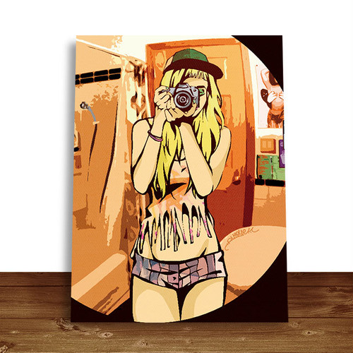 【CANVAS ART】 GIRL
