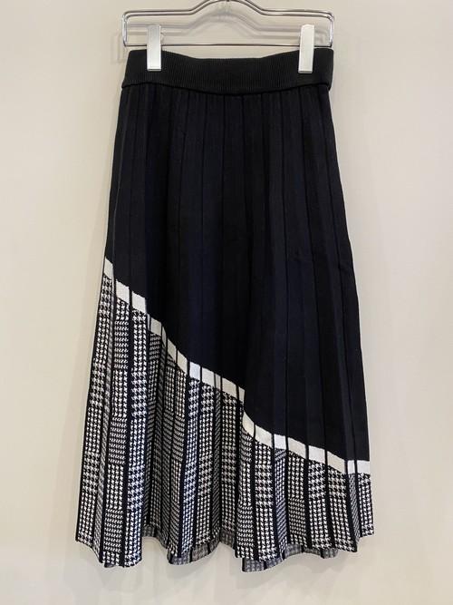 デザインニットスカート
