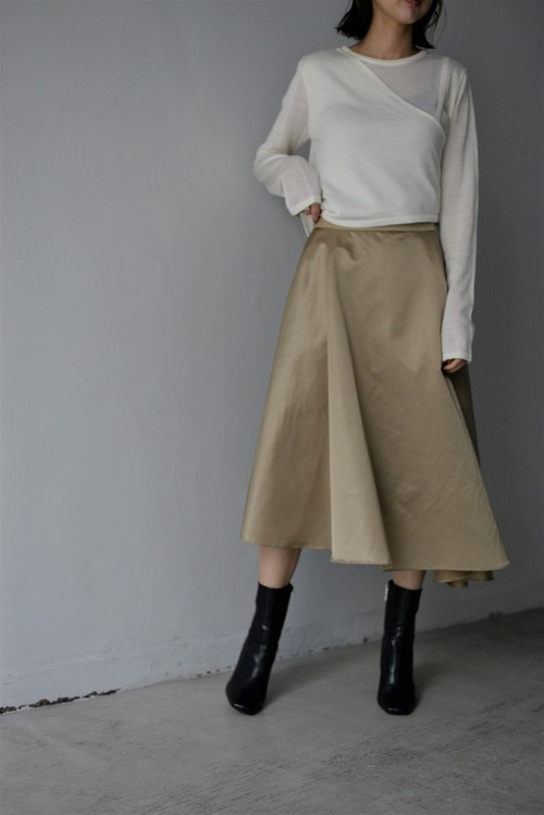 ROOM211 / Bomverino Skirt (beige)