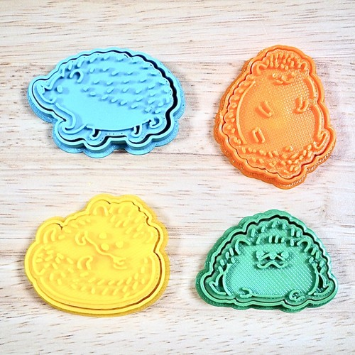 小さなハリネズミのクッキー型セット【4点セット】3dプリンター クッキー型