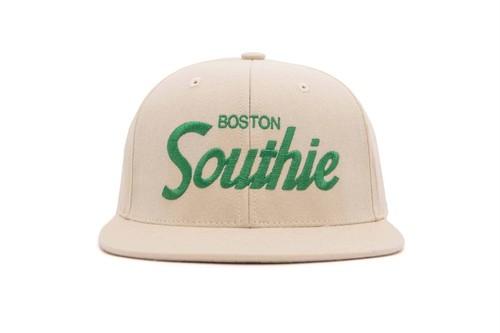 "HOOD®︎ ""SOUTHIE"" CAP BEIGE × GREEN"