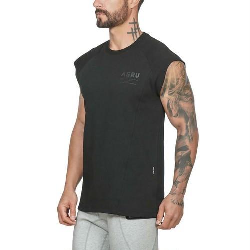 【ASRV】CottonPlus™ メッシュバックドロップショルダーTシャツ - Black