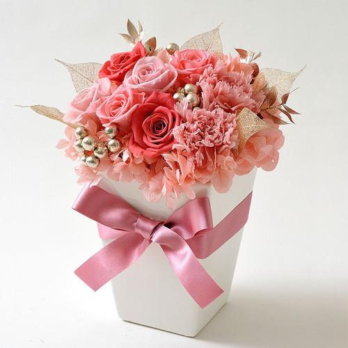 【プレゼントに最適】フルール・ピンク(D17cm×H24cm)