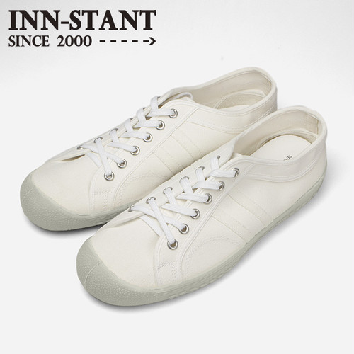 #112 CANVAS SHOES white/white (white sole) INN-STANT インスタント 【消費税込・送料無料】