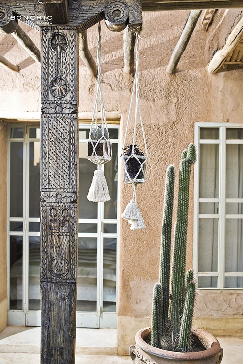 moroccan hanging plant holder