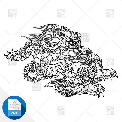 【png画像素材】唐獅子 Sサイズ  横500px × 縦338px