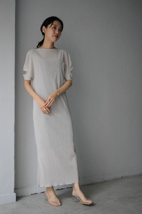 G.V.G.V. / ROUND SLEEVE DRESS (beige)
