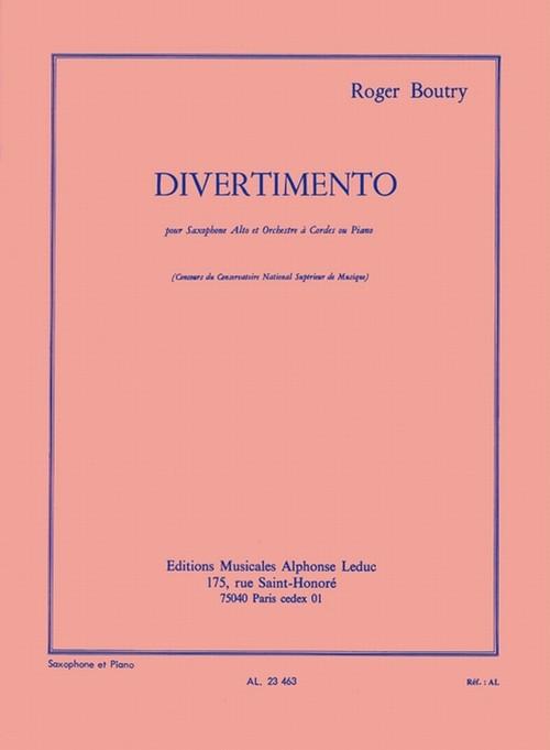 ブートリー:ディヴェルティメント/アルトサクソフォーン・ピアノ
