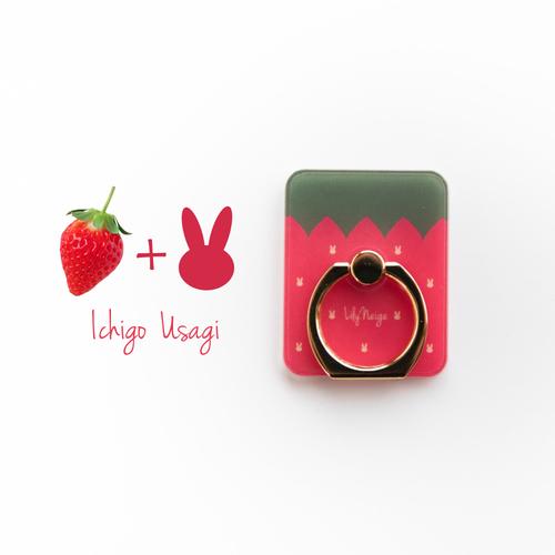 スマホリング イチゴとウサギ