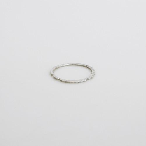 凹 ring / silver950