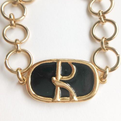 """Roberta"" black bracelet[h-114] ヴィンテージブレスレット"