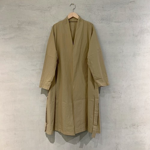 【COSMIC WONDER】Organic cotton haori robe/古白・黒・灰月色・藁/10CW06058-1