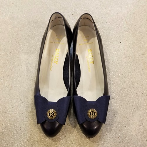 BALLY leather pumps /Made In Switzerland [S-186]