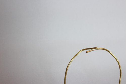 円の模索 置物 no.1   brass