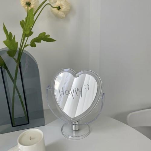 heart acryl stand mirror / ハート アクリル スタンド ミラー 卓上 鏡 韓国 インテリア 雑貨