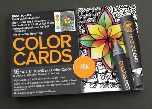 Chameleon Pen Zen Doodles Color Cards (カメレオンペン 禅 カラーカード)