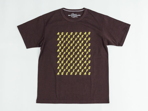 TANGUIS COTTON LOOSE T-S -GERUGA FREAK- (BURNED BROWN) / GERUGA