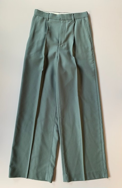 DAIRIKU Wool Wide Slacks Moss Green