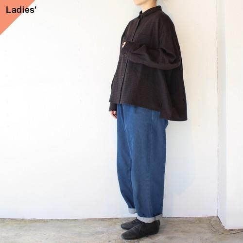 Hands of creation コットンウールリファインオーバーシャツ 1050640  ブラウン×ブラック