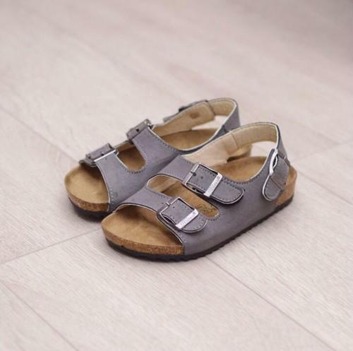 7818子供靴 キッズ ジュニア シューズ サンダル  女の子 男の子 女児 ベビー 子ども 夏シューズ グレー