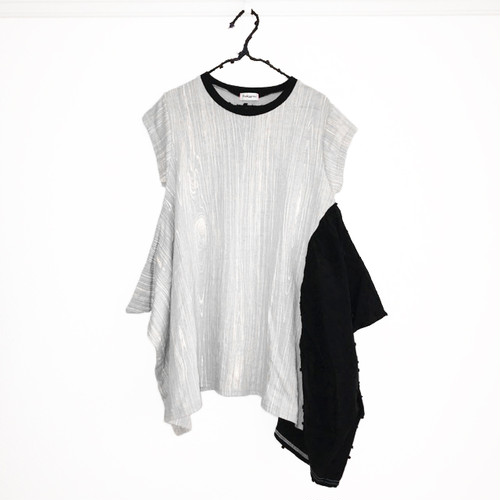 E/G KNIT DRAPE DRESS / WOMEN