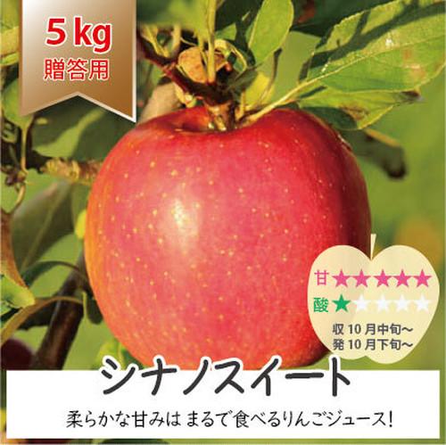 気品の高いお姫様「シナノスイート」 贈答用りんご 5kg