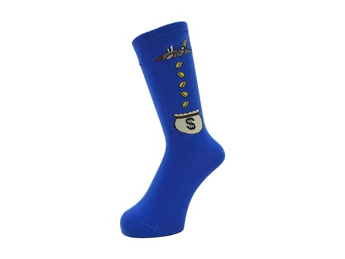 WHIMSY - 32/1 MONEY RAIDERS SOCKS (Blue)