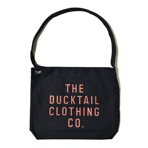 "DUCKTAIL CLOTHING ""NEWSPAPER BAG"" BLACK ダックテイル クロージング ニュースペーパー バッグ"