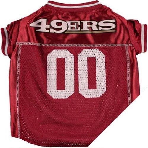 "NFLオフィシャル犬用ユニフォーム""49ERS"" XS~L"