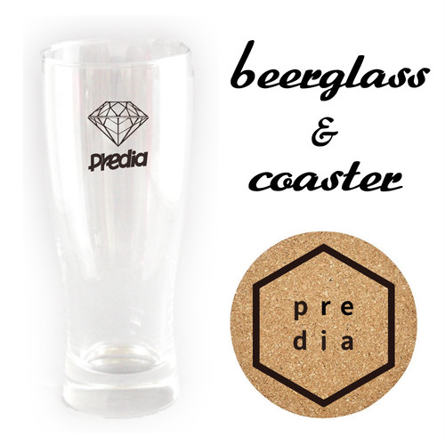 Beerglass&Logo Coaster Set