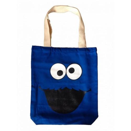 クッキーモンスター Cookie Monster 顔/フェイス プリント トートバッグ(M)