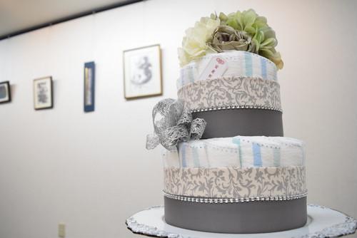 Silver spoon. ダイパーケーキ  おむつケーキ【ラッピング無料】出産祝、産休祝、安産祈願、ベビーシャワー