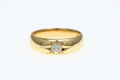 K18 0.265ct ダイヤモンドリング ●