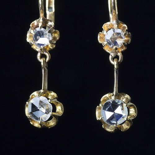 Antique Twin Rose-cut Earrings