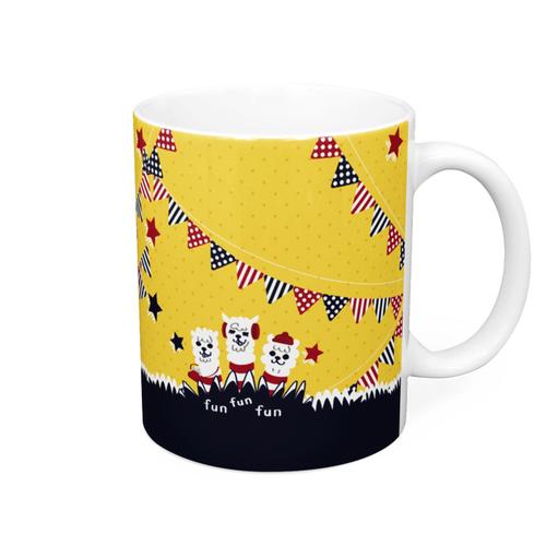 fun fun funあるぱかイズムのガーランドスタイルのマグカップ