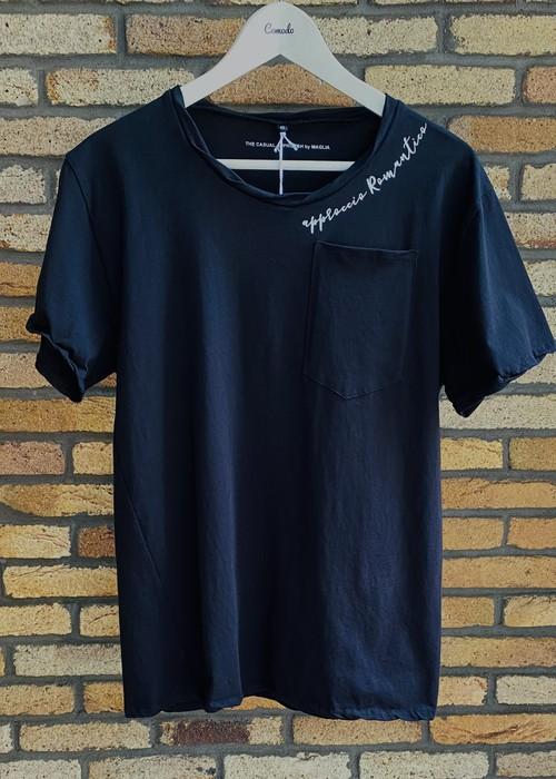 MAGLIA(マリア) T-2306B Tシャツ クルネック ブラック