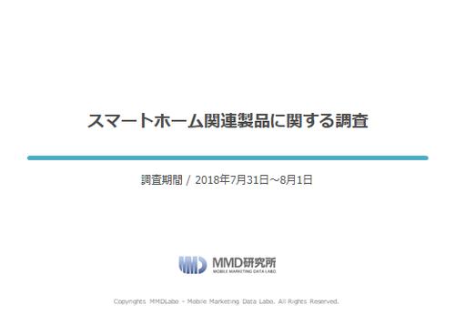 【MMD研究所自主調査】スマートホーム関連製品に関する調査