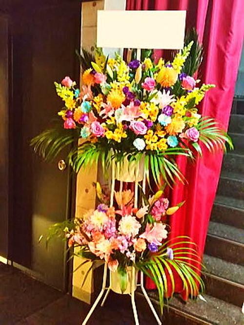 st027 スタンド花 パステルカラー2段