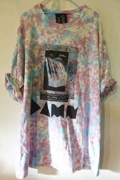 DAMN / organic cotton half sleeve / red