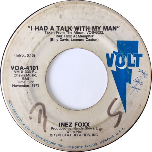 Inez Foxx ‎– I Had A Talk With My Man / The Lady, The Doctor & The Prescription