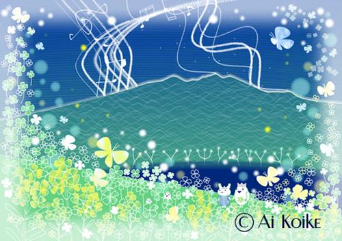 『澄んだ音色に時を忘れて』 ~グラフィックアートTiki&Puffyシリーズ~ 【清春旅と空想の美術館】