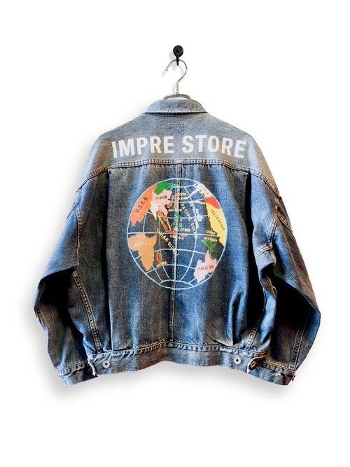 12.5oz Denim Jacket / special wash / HAND PAINT