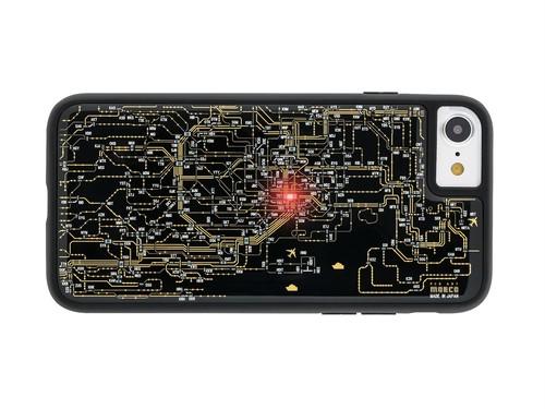 FLASH 東京回路線図 iPhone7/8 ケース 黒 【東京回路線図ピンズをプレゼント】