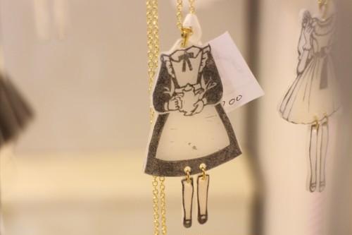 ペーパードール(メイド)ネックレス