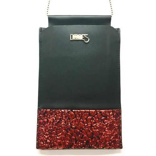 Multi PhonePochette【WaterDrop】Red×Black