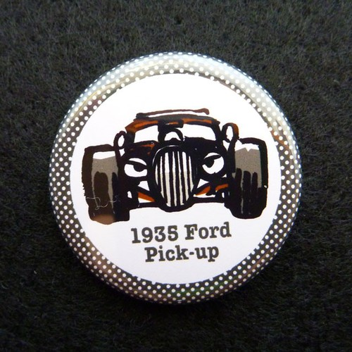 1935 Ford pick-up  缶バッジ