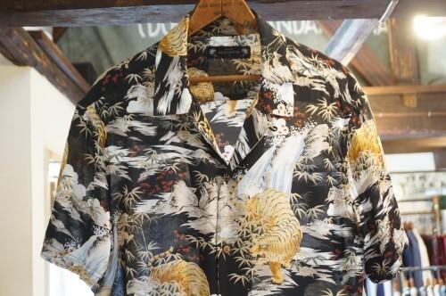 ALLSAINTS black tiger-print viscose Hawaiian Shirt