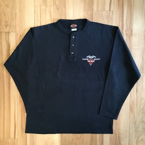 HARLEY-DAVIDSON HENLEY NECK  Long Sleeve Tee <USED>
