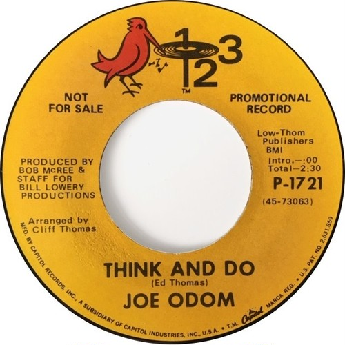 Joe Odom ‎– Think And Do / Let Me Go Gradually